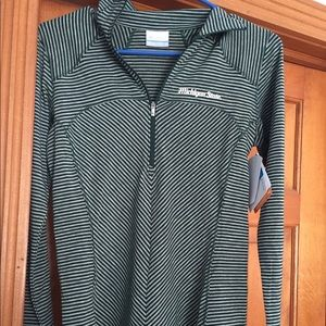 New with tags Columbia Michigan State 1/4 zip